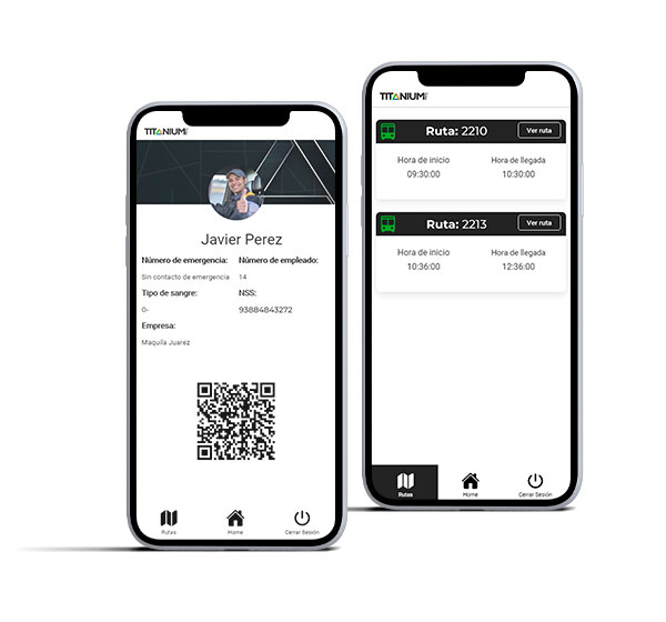 App de transporte de personal